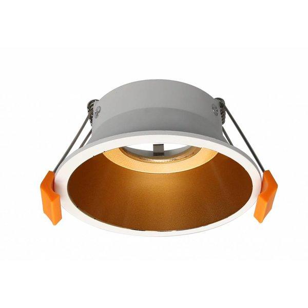 Spot LED doré 230V blanc diamètre 100mm