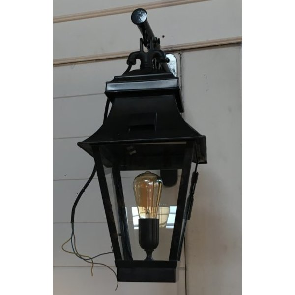 Applique lanterne rustique bronze verre