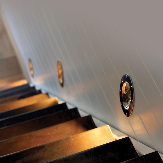 Lumière escalier rustique bronze, nickel, chrome