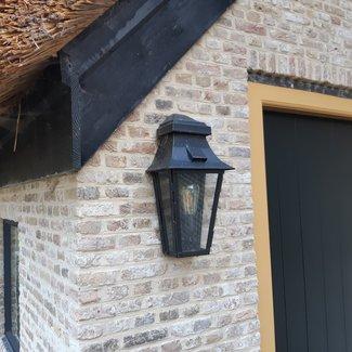 Lanterne décorative extérieure rustique bronze, nickel