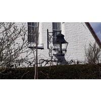 Wandlamp lantaarn landelijk buiten brons 4xE27 + 4xGU10