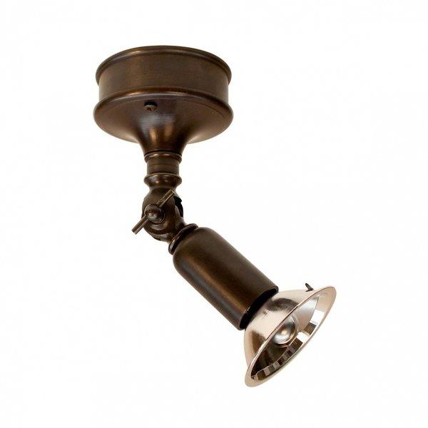 Plafonnier 1 spot rustique directionnel bronze