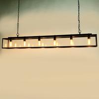 Hanglamp 6 lampen landelijk brons 175cm