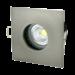 Waterdichte inbouwspot GU10 IP65 badkamer vierkant grijs