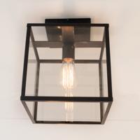 Plafondlamp lantaarn landelijk brons, nikkel, chroom