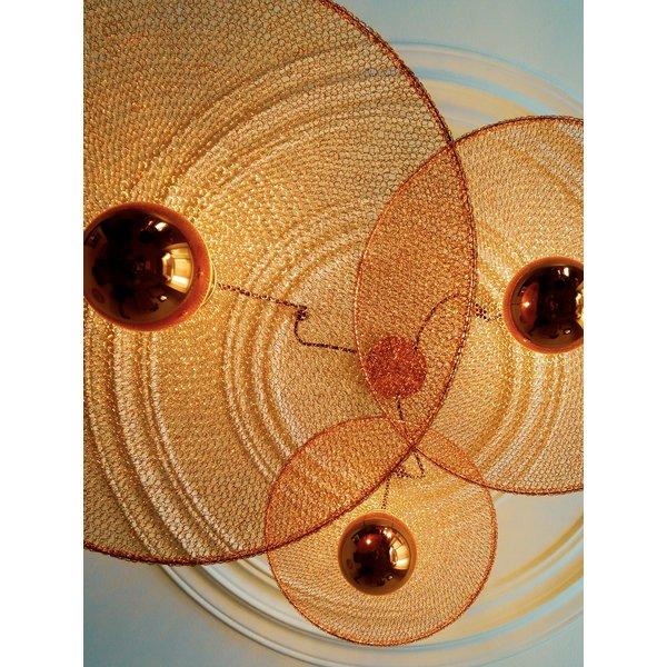 Hanglamp koper 25 tot 60 cm diameter