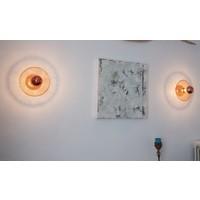 Wandlamp koper 25, 30 of 40 cm diameter