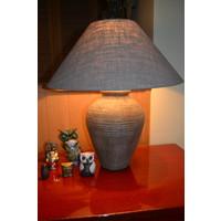 Tafellamp met keramiek voet incl. lampenkap