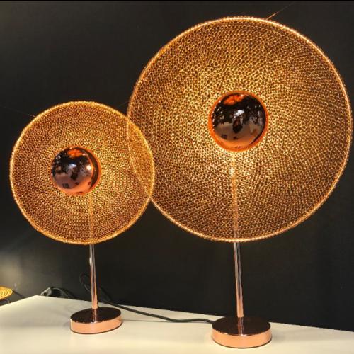 Tafellamp koper 25, 30 of 40 cm diameter