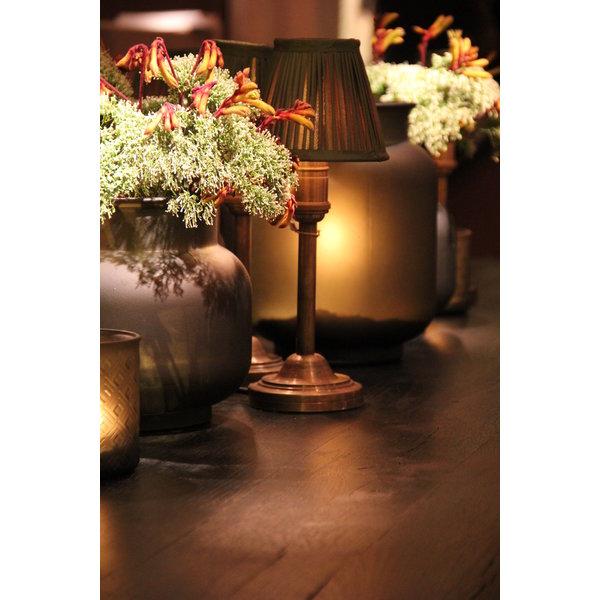 Tafellamp lampenkap brons met lampenkap barok stijl