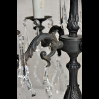 Tafellamp kroonluchter brons bruin of zwart met lampenkap