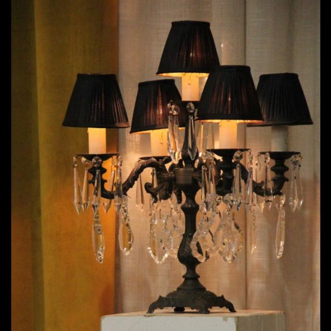 Lampe de chevet baroque beige brun ou noir