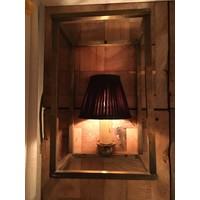 Wandlamp antiek brons met lampenkap