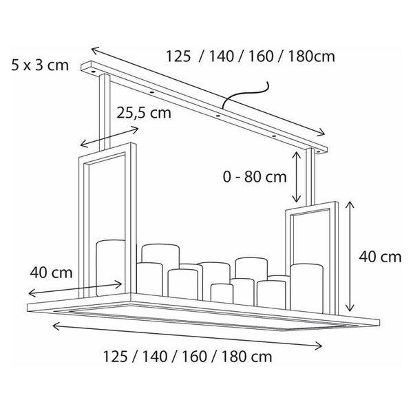 Hanglamp kaarsen (12, 14, 16 of 18) LED landelijk