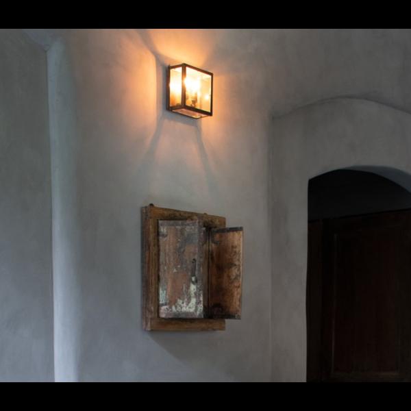 Buitenlamp landelijke stijl brons, nikkel of chroom