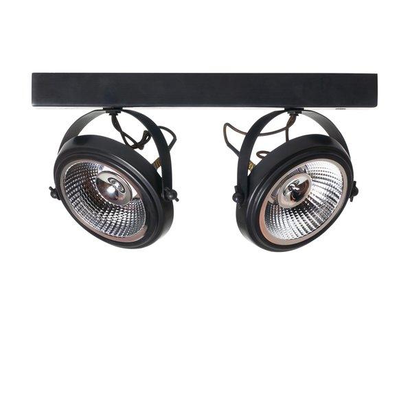Plafonnier 2 ampoules rustique bronze, nickel, chrome
