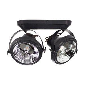 2 spots lamp landelijk brons, nikkel, chroom 230V