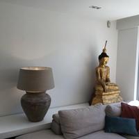 Lampe de chevet abat-jour céramique 120 cm haut