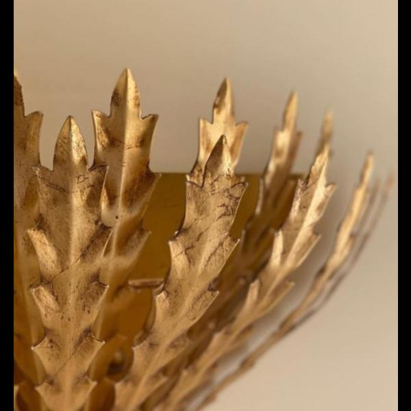 Bijzondere wandlamp takkenvorm goud, zilver