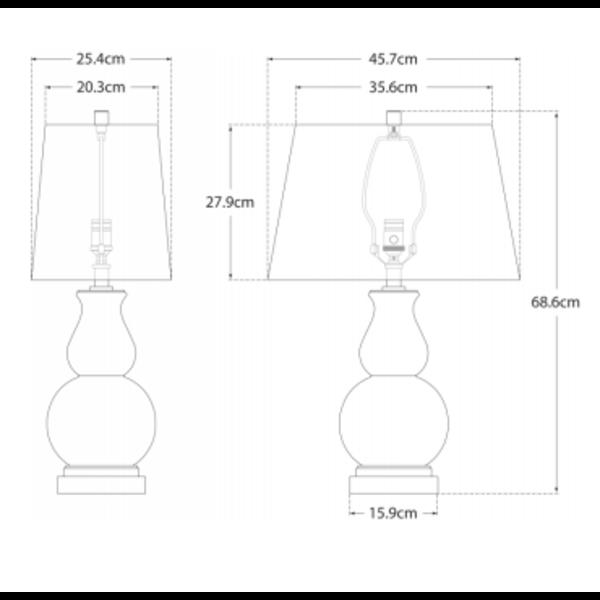 Lampe de chevet chic laiton avec abat-jour carré