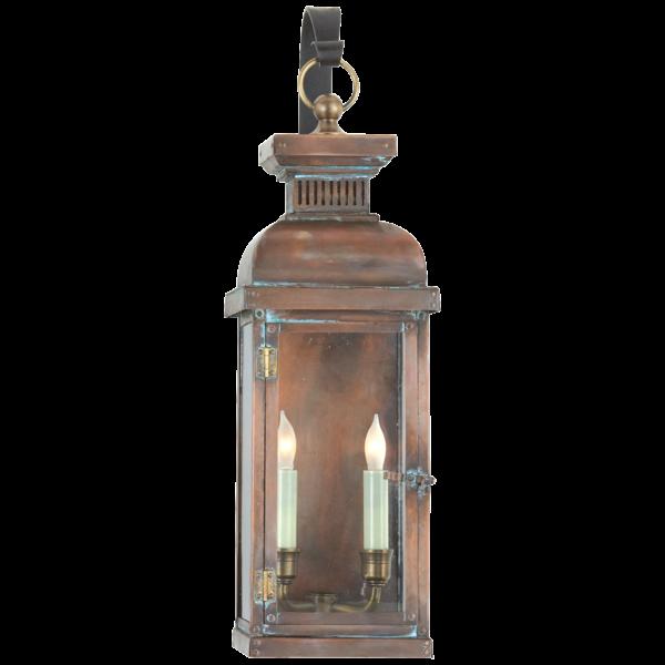 Koperen wandlamp lantaarn voor buiten
