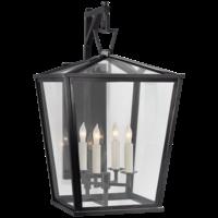 Lantaarn voordeur brons 4 x kaarslamp