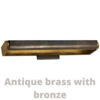 Lampe de tableau bronze, laiton ou nickel largeur 61 cm