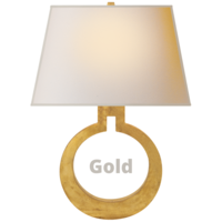 Applique murale cercle laiton, bronze ou doré