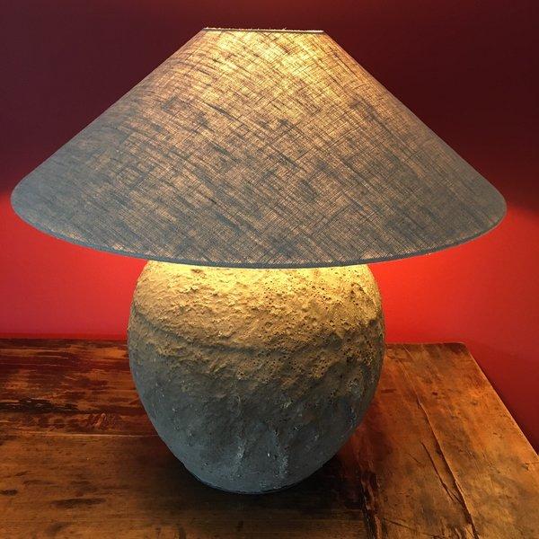 Lampe à poser en céramique avec abat-jour en lin 60cm haut