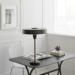 Stijlvolle bureaulamp brons of gepolijste nikkel landelijk