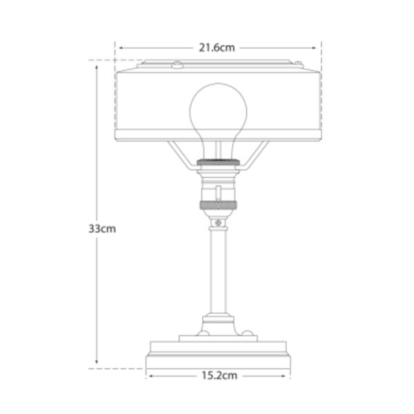 Lampe de bureau chic bronze, laiton ou nickel poli
