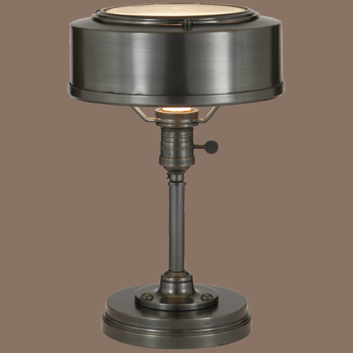 Mooie bureaulamp brons, messing of gepolijste nikkel