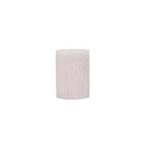 Wassen kaarshuis linnenkleur verschillende formaten (ook beschikbaar in glas of wit)