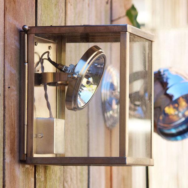 Wandspot buiten landelijk glas brons, nikkel of chroom