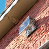 Applique murale double spot extérieur verre bronze, nickel, chrome