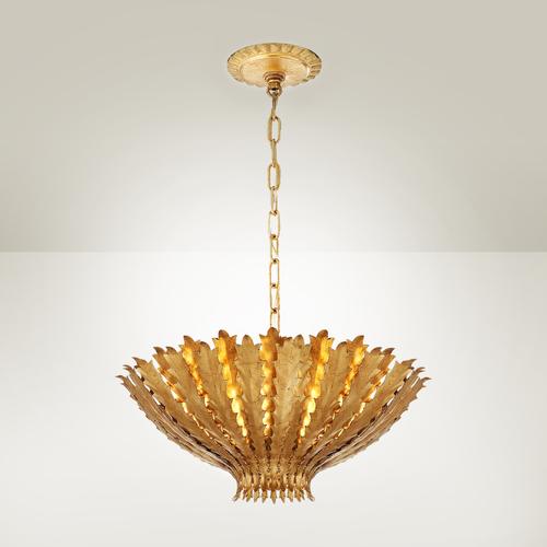 Sierlijke hanglamp barok goud