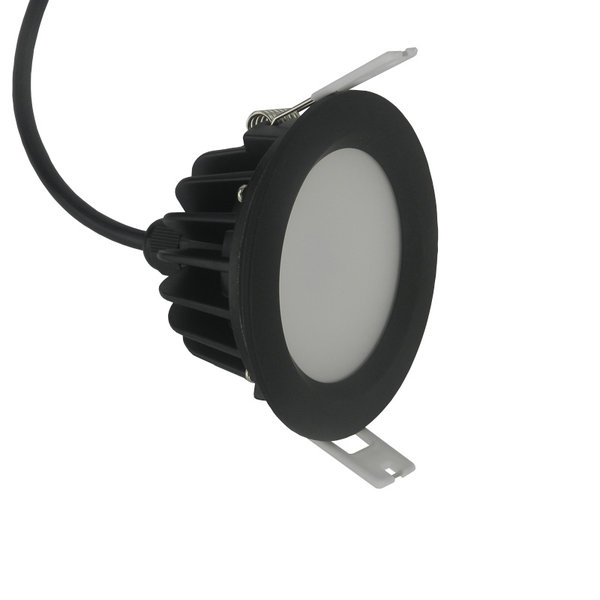 Spot étanche extérieur IP65 noir dimmable rond pas besoin de transfo