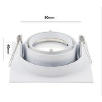 Inbouwspot zaagmaat 90mm GU10 230V wit vierkant design