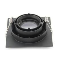 Inbouwspot vierkant zwart 230V design zaagmaat 90mm