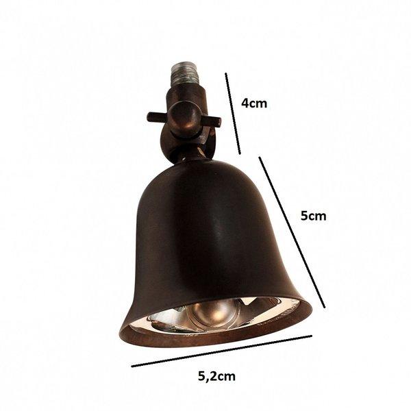 Double spot rustique directionnel bronze, nickel, chrome