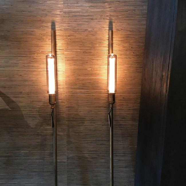 Bronzen staande lamp landelijke stijl (1 stuk)