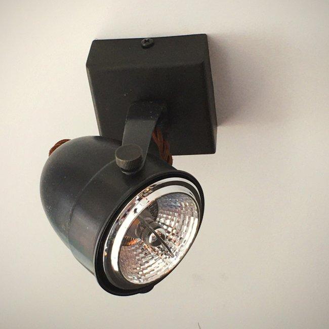 Plafondlamp spot landelijk GU10 brons, nikkel, chroom