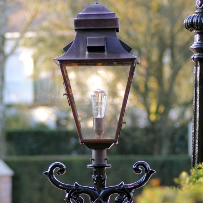 Lantaarnpaal lamp brons