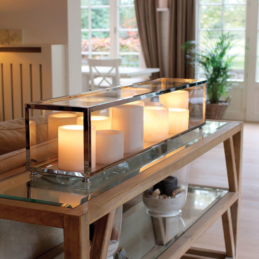 lampe de table rustique avec bougies