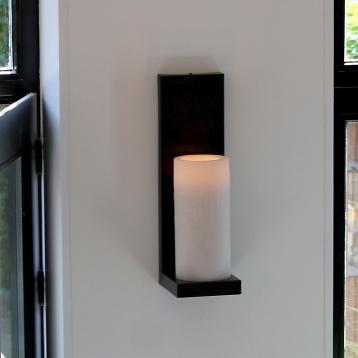 Lampe rustique avec bougie
