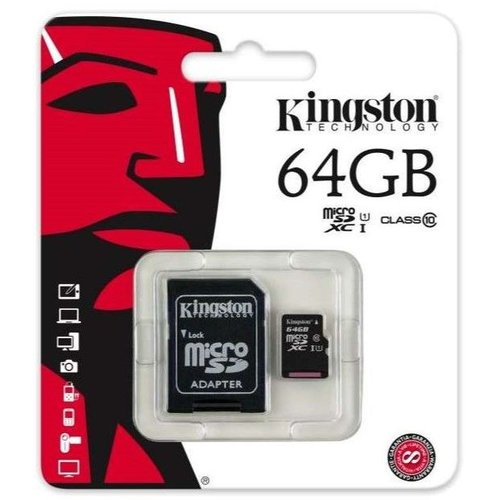 Foneplanet Kingston Micro SD 64GB + Adapter Class 10