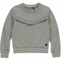 Trui Alexandrea grey melee stripe