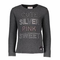 Longsleeve cute silver pink anthracite melange