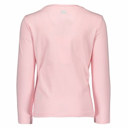 Le Chic Le Chic longsleeve girl with poodles pink crystal
