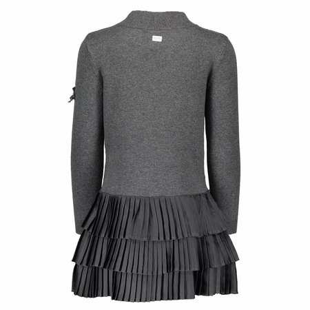 Le Chic Le Chic jurk high collar antracite melange